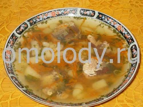 Fish soup, Salmon with dill