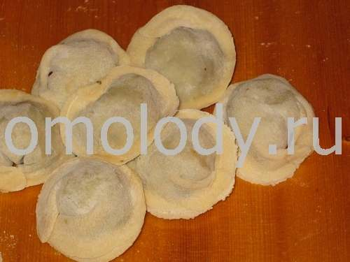 Pelmeni with ground meat