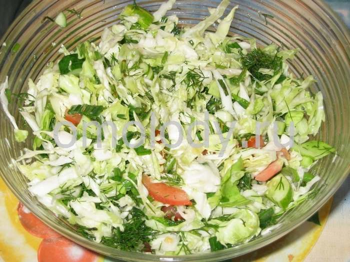 Cabbage salad with tomatoes